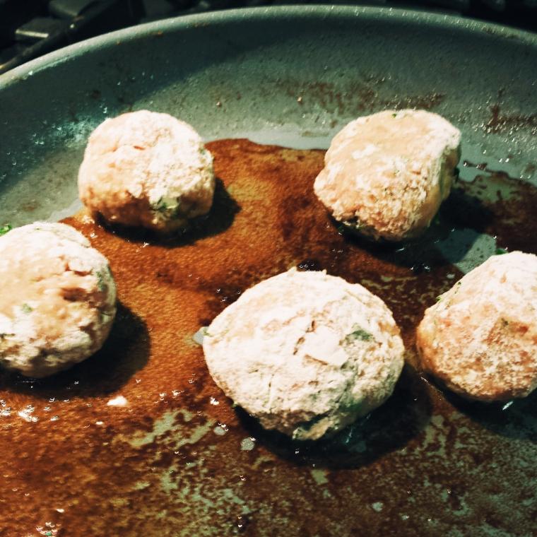 Frying Meatballs