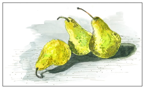 Pears & Ink (1 of 2)