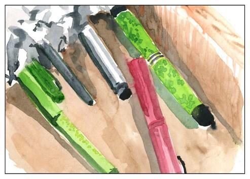 Pens & Crumpled Paper