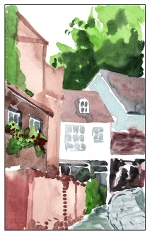 Somewhere - Direct Watercolor