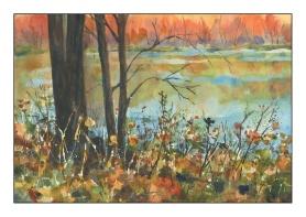 Study- Fall Lake by Rick Surowicz
