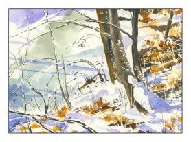 Study- Rick Surowicz -Snowy Creek's Edge-