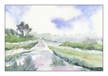 landscape - inspired by a landscape by edo hannema