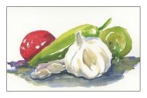 Garlic, Peppers, Tomato