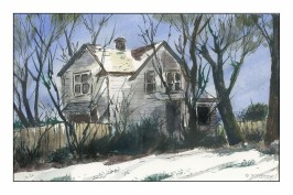 Midwest Farmhouse in Early Spring